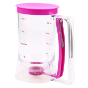 WHOSEE 900ml Cake Batter Dispenser With Measuring Label Kitchen Mixer Tool DIY Rose Red