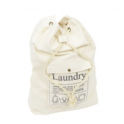 Spacious Drawstring Cotton Canvas Laundry Bag Washing Storage Bag