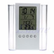 Kocome Digital Desk Pen Pencil Holder LCD Alarm Clock Thermometer Calendar Display