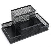 Kocome Metal Black Mesh Office Desktop Organiser Pen Pencil Box Stationery Holder Case