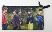 SHINEE WORLD V Kpop Korean Boy Band BIG Zip Pen Pencil / Cosmetic Makeup Case Bag Pouch SH-010