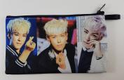 TOP T.O.P In BIGBANG Big Bang KPOP BIG Zip Pen Pencil /Cosmetic Makeup Case Bag Pouch Stationery BB-020