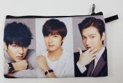 LEE MIN HO Korean Actor BIG Zip Pen Pencil / Cosmetic Makeup Case Bag Pouch Stationery LEE-010