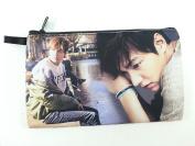 LEE MIN HO Korean Actor BIG Zip Pen Pencil / Cosmetic Makeup Case Bag Pouch Stationery LEE-012
