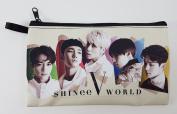 SHINEE WORLD V Kpop Korean Boy Band BIG Zip Pen Pencil / Cosmetic Makeup Case Bag Pouch SH-009