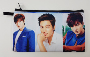 LEE MIN HO Korean Actor BIG Zip Pen Pencil / Cosmetic Makeup Case Bag Pouch Stationery LEE-011