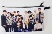 SEVENTEEN KPOP Korean Boy Band BIG Zip Pen Pencil Stationery / Cosmetic Makeup Case Bag Pouch SVN-006