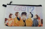 GOT7 GOT SEVEN LOVE TRAIN KPOP Korean Boy Band BIG Zip Pen Pencil / Cosmetic Makeup Case Bag Pouch Stationery GOT-033