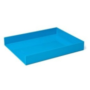 Poppin Single Letter Tray, Pool Blue