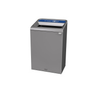 Rubbermaid Commercial Products 1961630 Configure Waste Receptacle Paper Recycling Can, 124.9l Grey Stenni