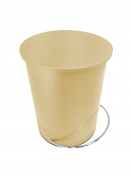Bathroom Pedal Rubbish Bin | 3 Litre Round Waste Basket | Champagne Gold