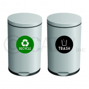 Recycle & trash solid decal self adhesive fabric vinyl sticker
