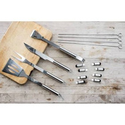 Innova Imports 4897056743571 Stainless Steel Dishwasher-Safe Grilling Barbeque Tool Set & Canvas Car44; 16 Piece
