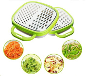 Grocery House Fruit Vegetable Julienne Slicer With Catch Bowl, Multi-Grater