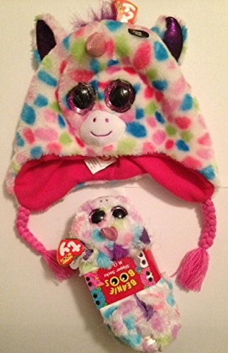 TY Girl s Beanie Boo Wishful Slippers and Hat Bundle by Unbranded ... 0121e94cf11f