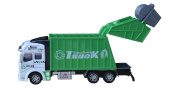 Cltoyvers Metal Garbage Truck with Pullback Action and Openable Back Green Recycling Truck Toys