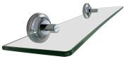 LDR 46cm Styalish Tempered Glass Bathroom Shelf With Chrome Finish