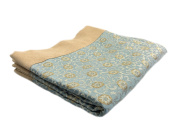 Bed Scarf, Blue and Gold, Queen 220cm x 50cm .