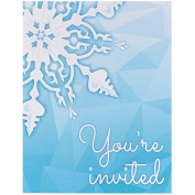 Snowflake Winter Wonderland Christmas Party Supplies - Invitations