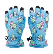 Children Kids Ski Skating Gloves Winter Sports Warm 2-4 Years Mushroom Pattern