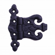 Wrought Iron Hinge Black Rustproof Door Or Cabinet
