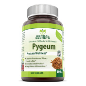 Herbal Secrets African Pygeum Extract - 100mg Pure Pygeum Africanum Bark Capsules - Supplement Standardised to 12% Phytosterols - 120 Capsules Per Bottle