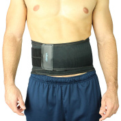 Vive Lumbar Support Back Brace with Dual Tightening Straps and Removable Posture Support Pad, One Size