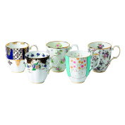 Royal Albert 5 Piece 100 Years 1900-1940 Mug Set, 420ml, Multicolor