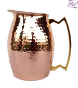 Pure copper Hammered Jug *NEW* Heavy Gauge Pure Solid Hammered Copper Moscow Mule Water Pitcher