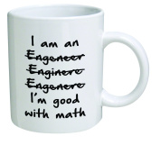 Funny Wrong I'm An Engineer Good with Math BLACK13F37 - 330ml Coffee Mug - Funny Inspirational and Sarcasm