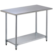 SUNCOO 60cm x 120cm Commercial Stainless Steel Work Food Prep Table