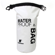 TTnight Waterproof Dry Bag, 2L Roll Top Dry Compression Sack Keeps Gear Dry for Kayaking, Beach, Rafting, Boating, Fishing