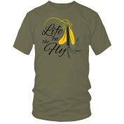 LIFE ON THE FLY t-shirt fly fishing trout salmon angling zander perch carp barbel ideal birthday, Father's Day, Christmas . UK DELIVERY!!!