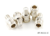 CablesOnline 5-PACK F-Type Female to N-Type Female Antenna RF Adapter, RF-N111-5