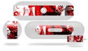 Red Graffiti Decal Style Skin - fits Beats Pill Plus