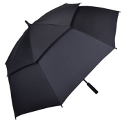 Kung Fu Smith Auto Open 140cm Double Canopy Vented Windproof Golf Umbrella