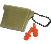 Military Ear Plugs with Olive Drab Case