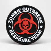 ZOMBIE OUTBREAK RESPONSE TEAM NEW STYLE PVC Morale Patch, Hook and loop Morale Patch by NEO Tactical Gear