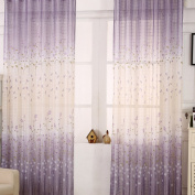 Oshide Fashion Sheer Tulle Door Window Net Curtain Light Filtering Drape Panel Curtains