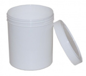 6 X 1000ml (1litre) Plastic Tubs with Lids by Natural Clay Co