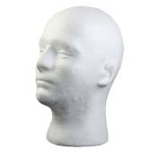 Male Styrofoam Foam Mannequin Manikin Head Model Wig Glasses Hat Display Stand