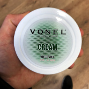 VONEL HAIR STYLING WAX - CREAM MATTE WAX - PRO BARBERS FINISHING PRODUCT - NEW 2017 - EASILY WASHES OUT FROM HAIR - 150ml - SIMILAR TO LAYRITE MATTE CREAM & FUDGE