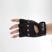 Comfspo Fashion PU Half Finger Driving Show Jazz Gloves Fingerless Gloves