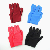 Honbay 8pcs Colourful 3 Finger Gloves Billiards Pool Snooker Cue Shooters Gloves