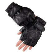 Comfspo Leather Half Finger Driving Gloves Fingerless Gloves Men Bicycle Gloves Half Finger Gel Padded Breathable Sports Bicycle Gloves