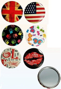 Pocket Mirror Handbag Gift Travel Vintage Style Retro Cosmetic Make Up Beauty Office by Concept4u