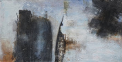 HAND-PAINTED ABSTRACT Table. Exclusive Work. 140 x 70 cm
