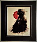 """Classic """"Star Wars-Darth Vader Art Work 1."""" Image in Thick Black Frame."""