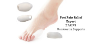Foot Pain Relief Expert* 2 Pack (4) Bunionette Treatment Supports Tailors Toe Cure Little Toe Pain Bunion Pads Guard