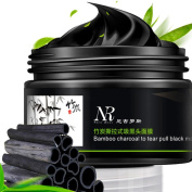 VENMO Charcoal Aloe Vera Blackhead Black Mask, Acne Deep Cleansing Peeling Off Black Head Remover Bottle 100gram, Regulate oil Secretion - Cooling and Soothing Your Skin